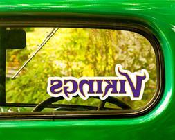 2 MINNESOTA VIKINGS NFL DECAL Sticker Bogo For Car Window Bu