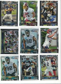 2015 TOPPS CHROME FOOTBALL - BASE or REFRACTOR -  - WHO DO Y