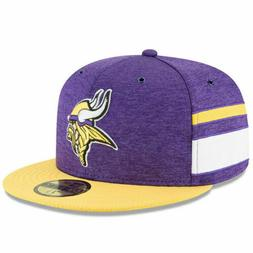 2018 minnesota vikings 59fifty fitted hat sideline