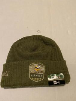 2019 Minnesota Vikings New Era Salute To Service Knit Hat Si