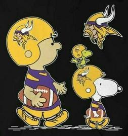 3 Minnesota Vikings Snoopy & Friends Waterproof Vinyl Sticke