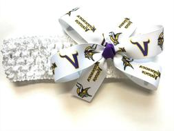 Baby Girls Minnesota Vikings Headband Newborn Girl NFL Vikin