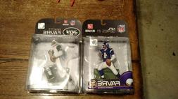 Brett Favre Mcfarlane figures,set of two Minnesota Vikings S