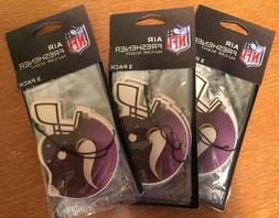 *Bulk Deal!* Minnesota Vikings 3x 3-Pack Vanilla Air Freshen