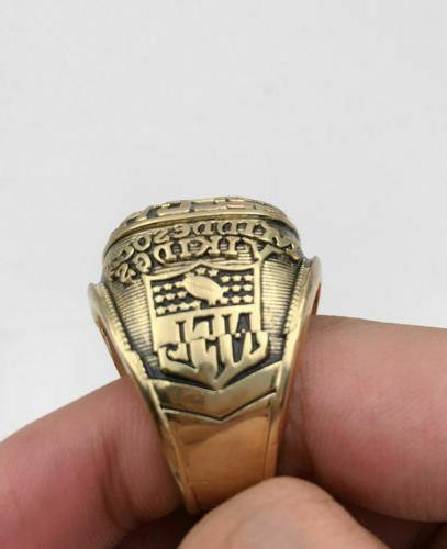 1974 Vikings Super Bowl 18k GOLD PLATE 11 USA