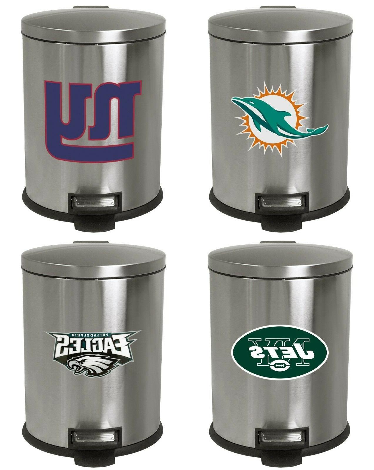 3 1 gal nfl theme stainless steel