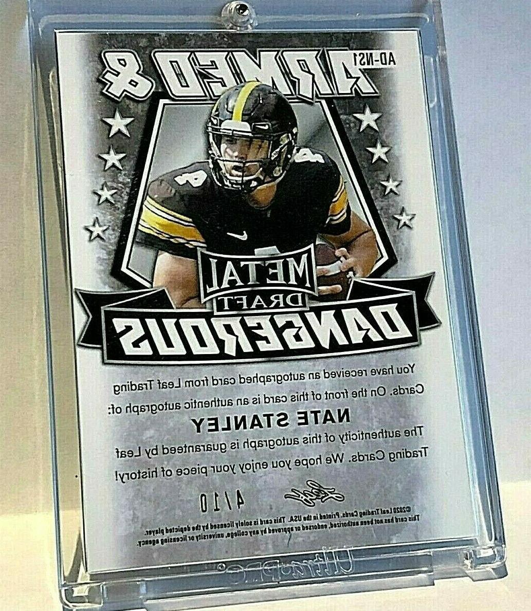 4/10 Nate RC Auto JERSEY 4 Leaf CRACKED Rookie SP VIKINGS