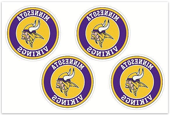4 minnesota vikings nfl decals yeti stickers