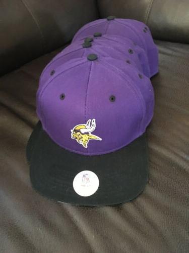 6 minnesota vikings purple baseball hat new