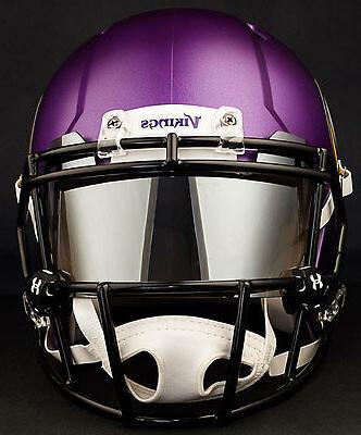MINNESOTA VIKINGS NFL Football Helmet with CHROME MIRROR Vis