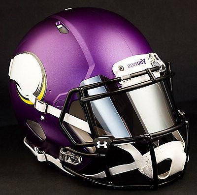 MINNESOTA NFL Helmet CHROME MIRROR Visor