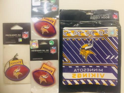gift pack minnesota vikings stretchable book cover