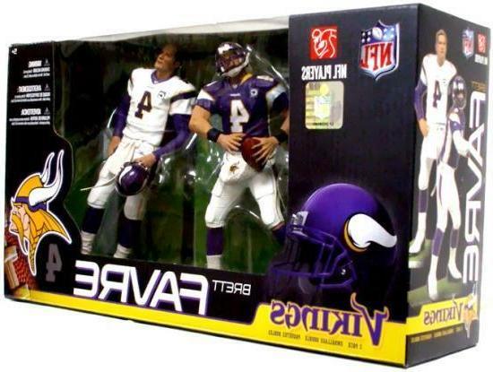 "McFARLANE NFL 2-Pack Collection_BRETT FAVRE 6"" figures_Minnesota"