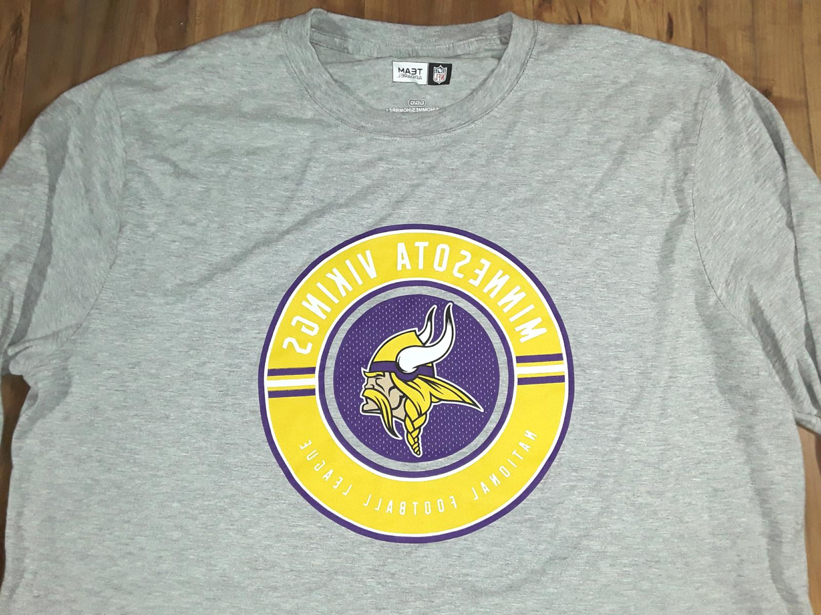 Mens Minnesota Vikings NFL Team T-Shirt Gray