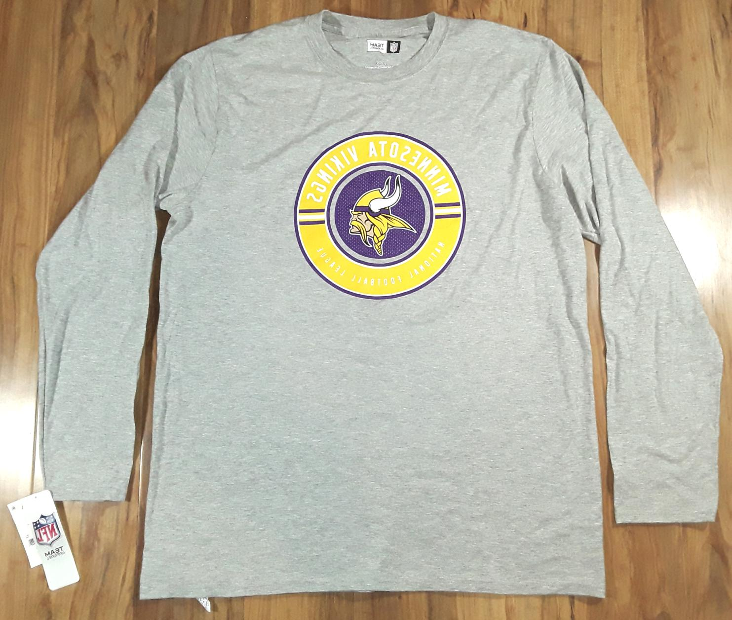 mens minnesota vikings long sleeve t shirt