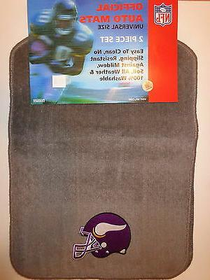 minnesota vikings 2 piece universal auto car