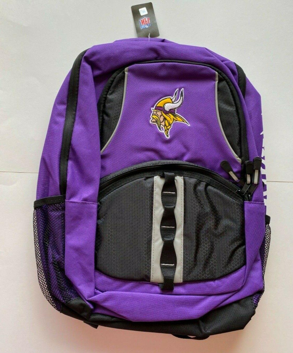 minnesota vikings backpack captain style carry on