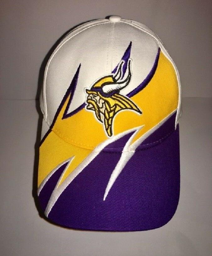 minnesota vikings cap hat white purple embroidered