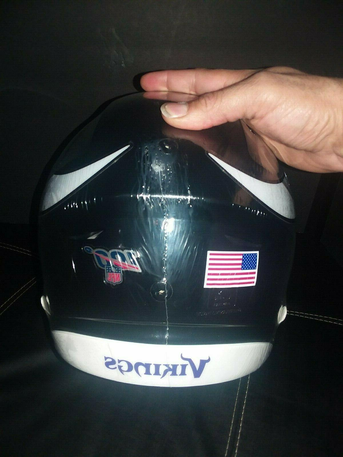 Minnesota Custom Authentic NFL Helmet w/visor