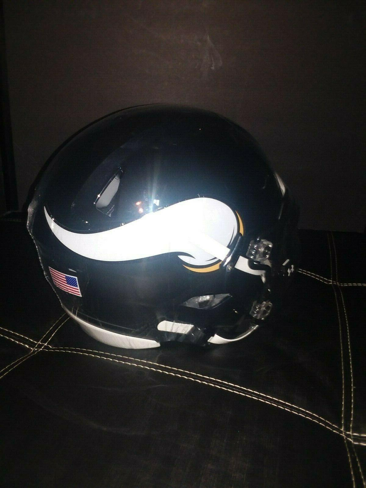 Minnesota Vikings Authentic NFL Football Helmet w/visor