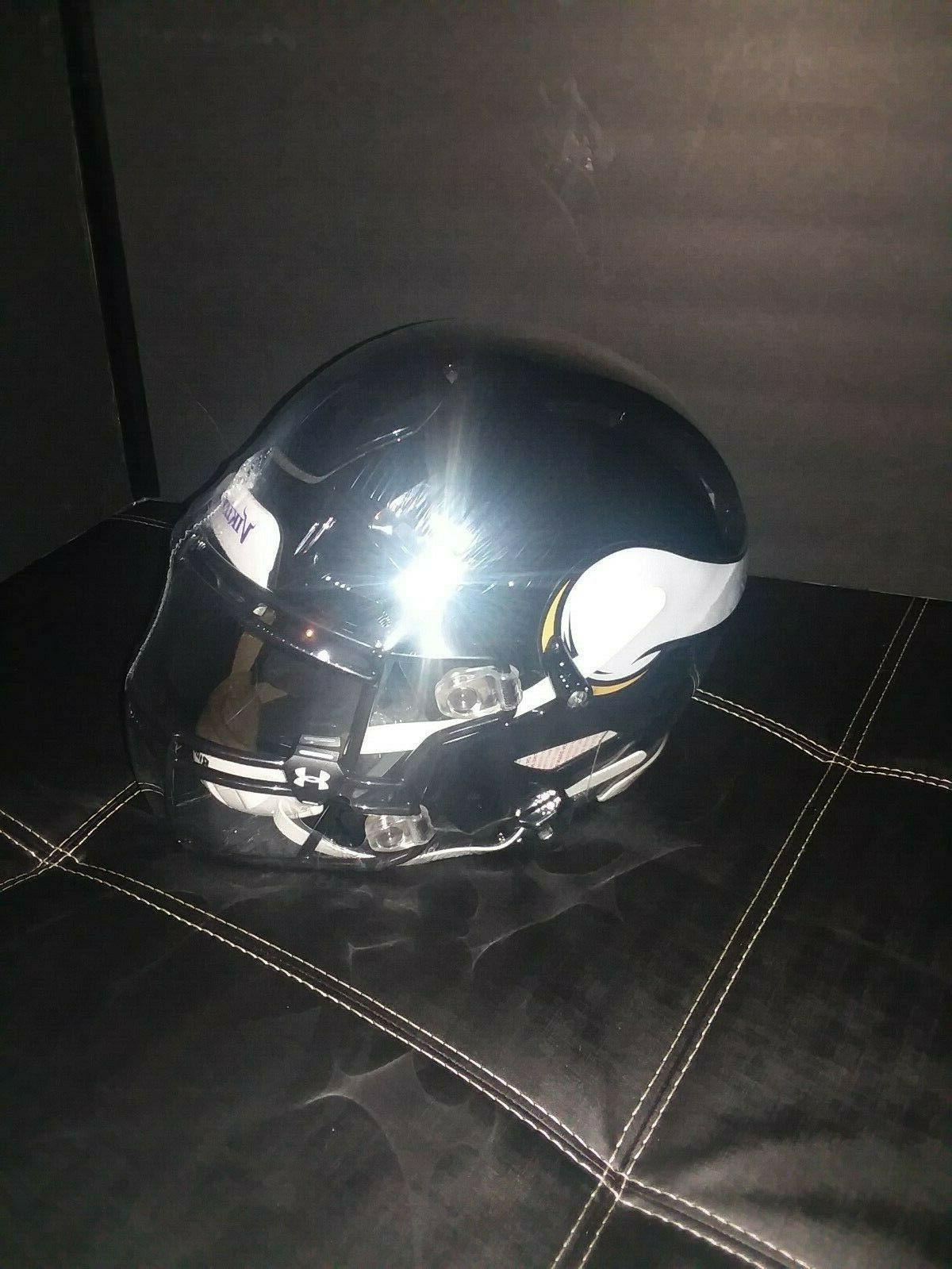 minnesota vikings custom black authentic nfl speedflex