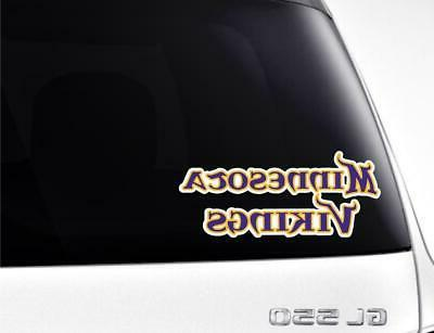 Minnesota Vikings Car / Truck Sticker Cornholes