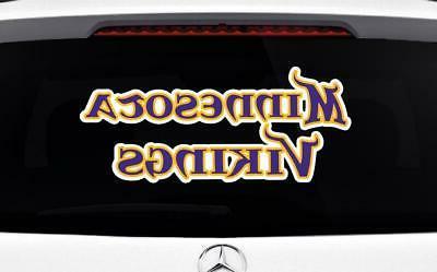 Minnesota Vikings Car Sticker Cornholes