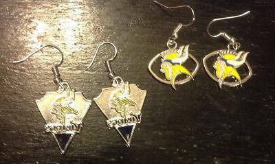 minnesota vikings earrings oval football triangle nfl