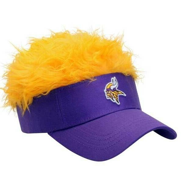 two 2 minnesota vikings flair hair visors