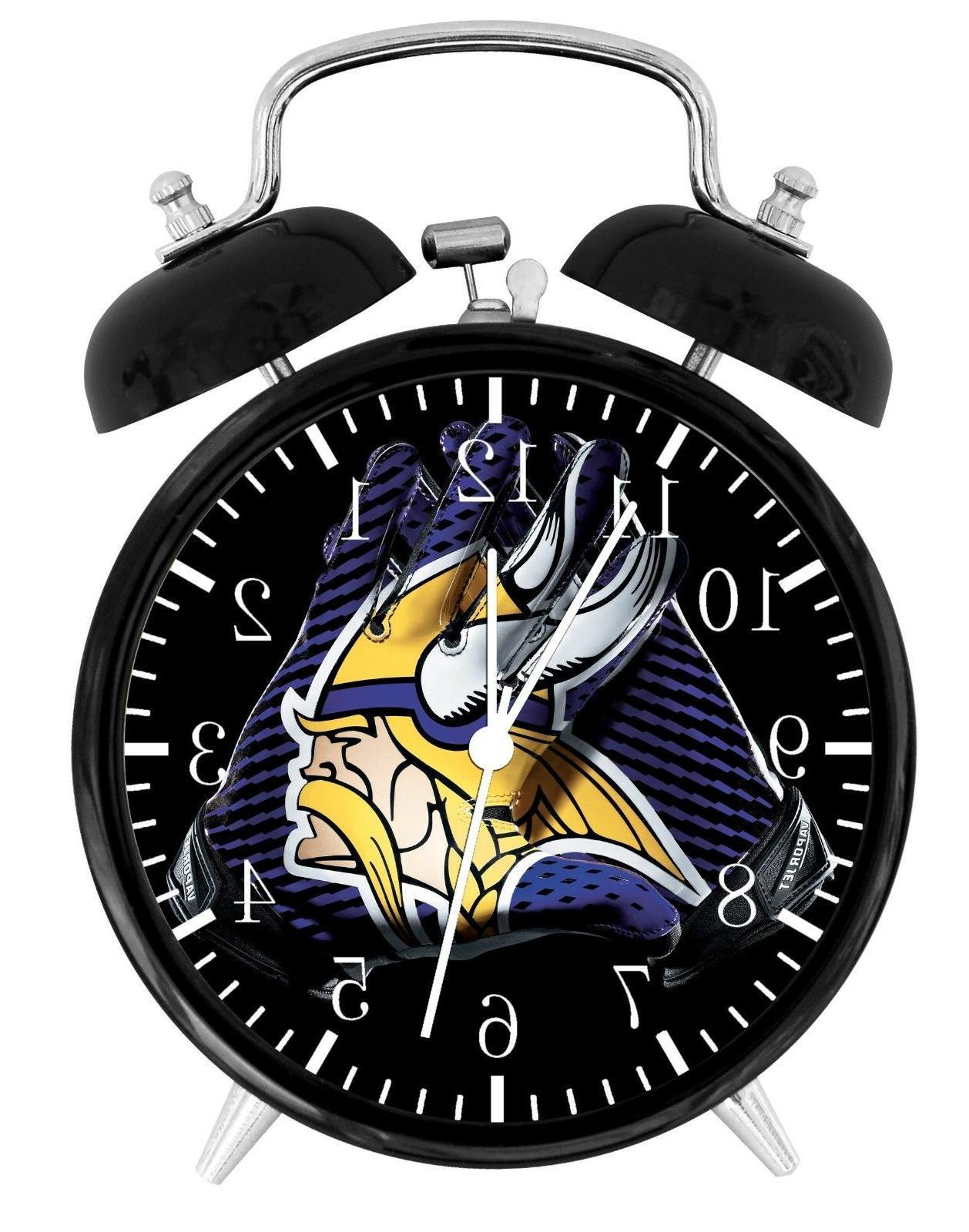 minnesota vikings football nfl alarm desk clock