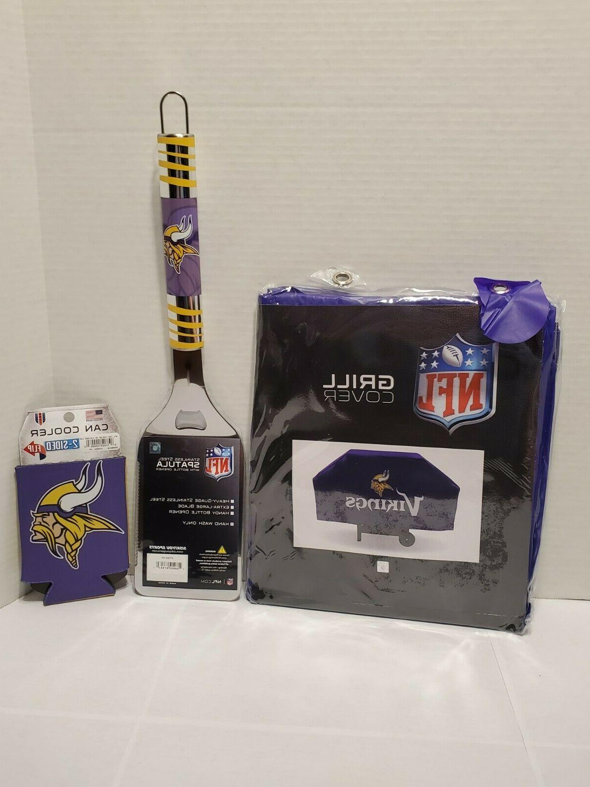minnesota vikings grill cover spatula can cozy