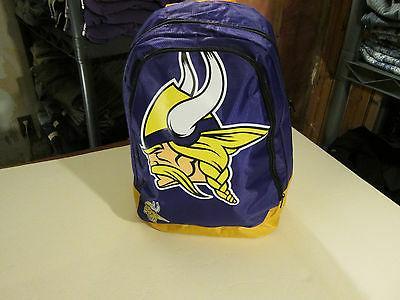 minnesota vikings licensed team backpack bookbag nwt
