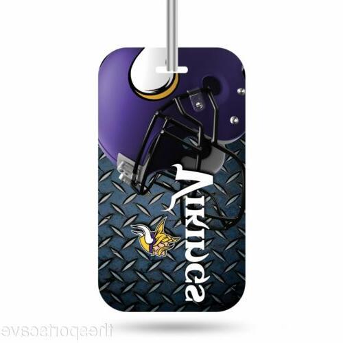minnesota vikings logo luggage tag crystal view
