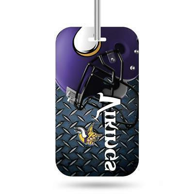 minnesota vikings luggage id tag new nfl