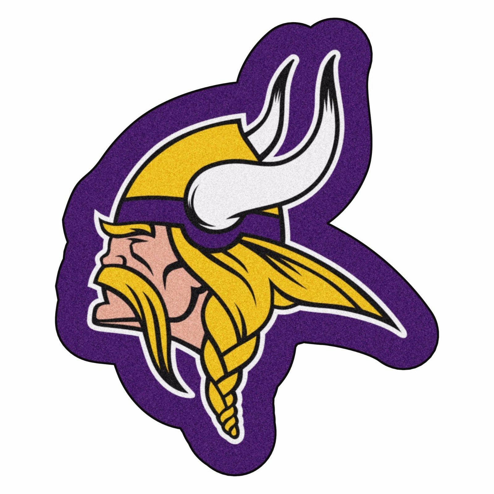 Minnesota Vikings Mascot Decorative Logo Cut Area Rug Floor