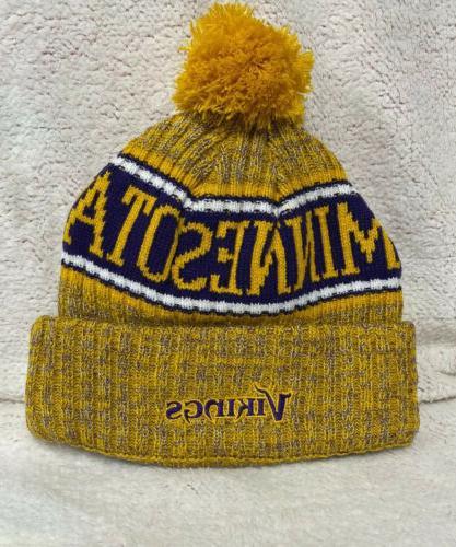 Minnesota New Sport Knit Hat - Yellow