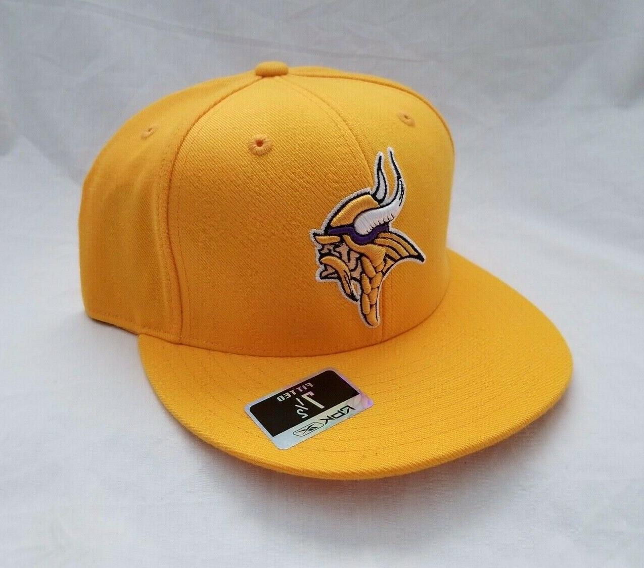 Minnesota Embroidered Yellow Hat Fitted Cap