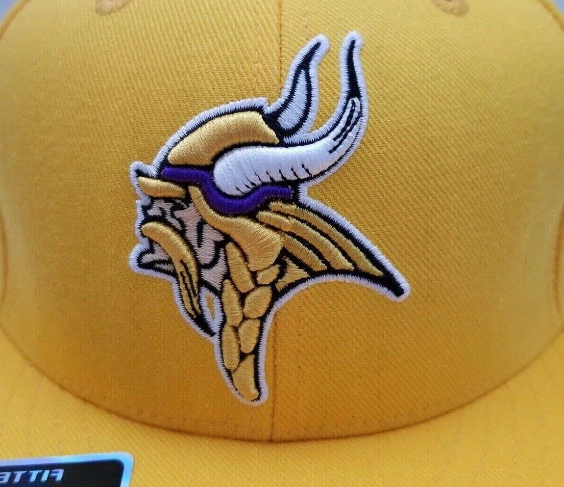 Minnesota 3D Embroidered Yellow Hat Fitted