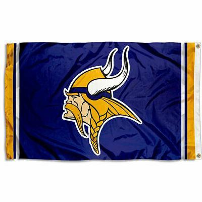 Minnesota Vikings Large Outdoor NFL 3 x 5 Banner Flag