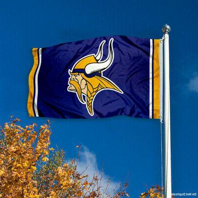 Minnesota Vikings Large NFL 3 x Banner Flag