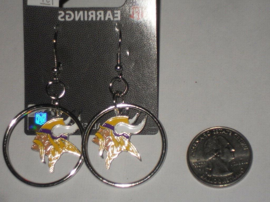 minnesota vikings nfl licensed spinning earrings new