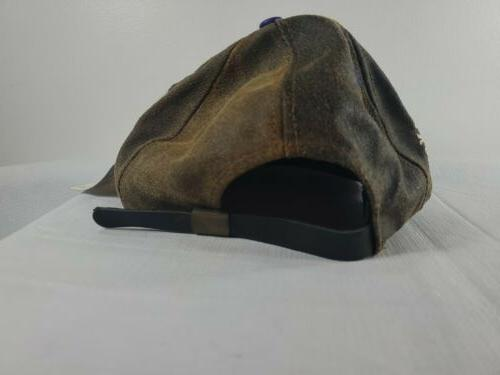 Minnesota Vikings NFL Leather Hat Brown/Purple