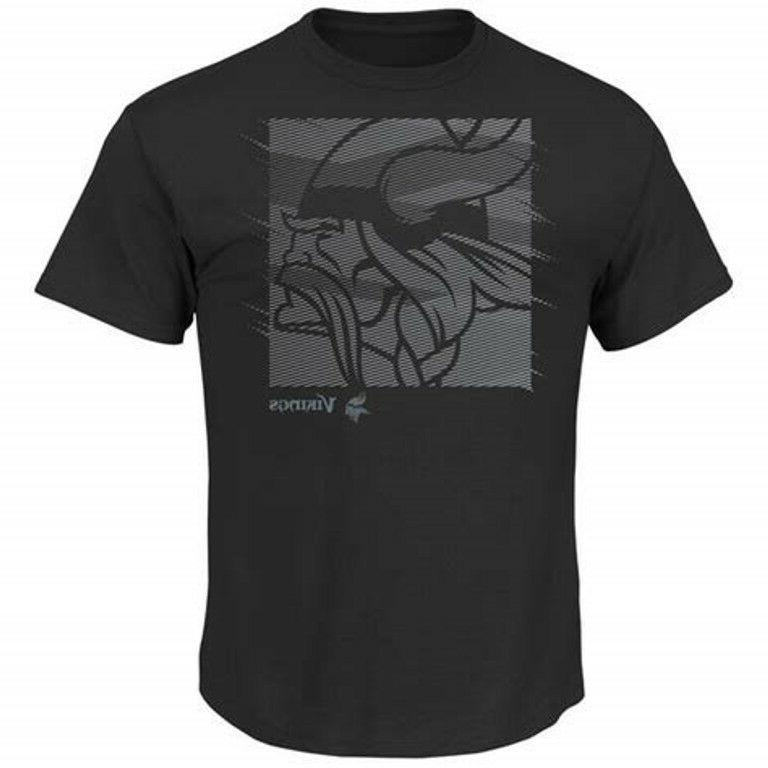 minnesota vikings nfl t shirt black charcoal