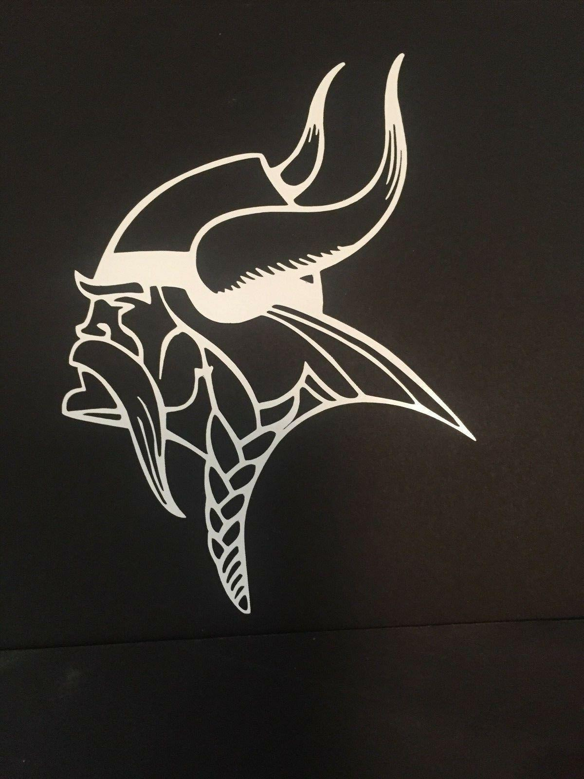 minnesota vikings nfl white vinyl sticker decal