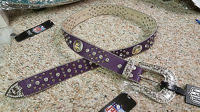 Minnesota Leather Belt Glitz Bling