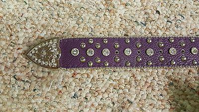 Minnesota Vikings Purple Belt Glitz
