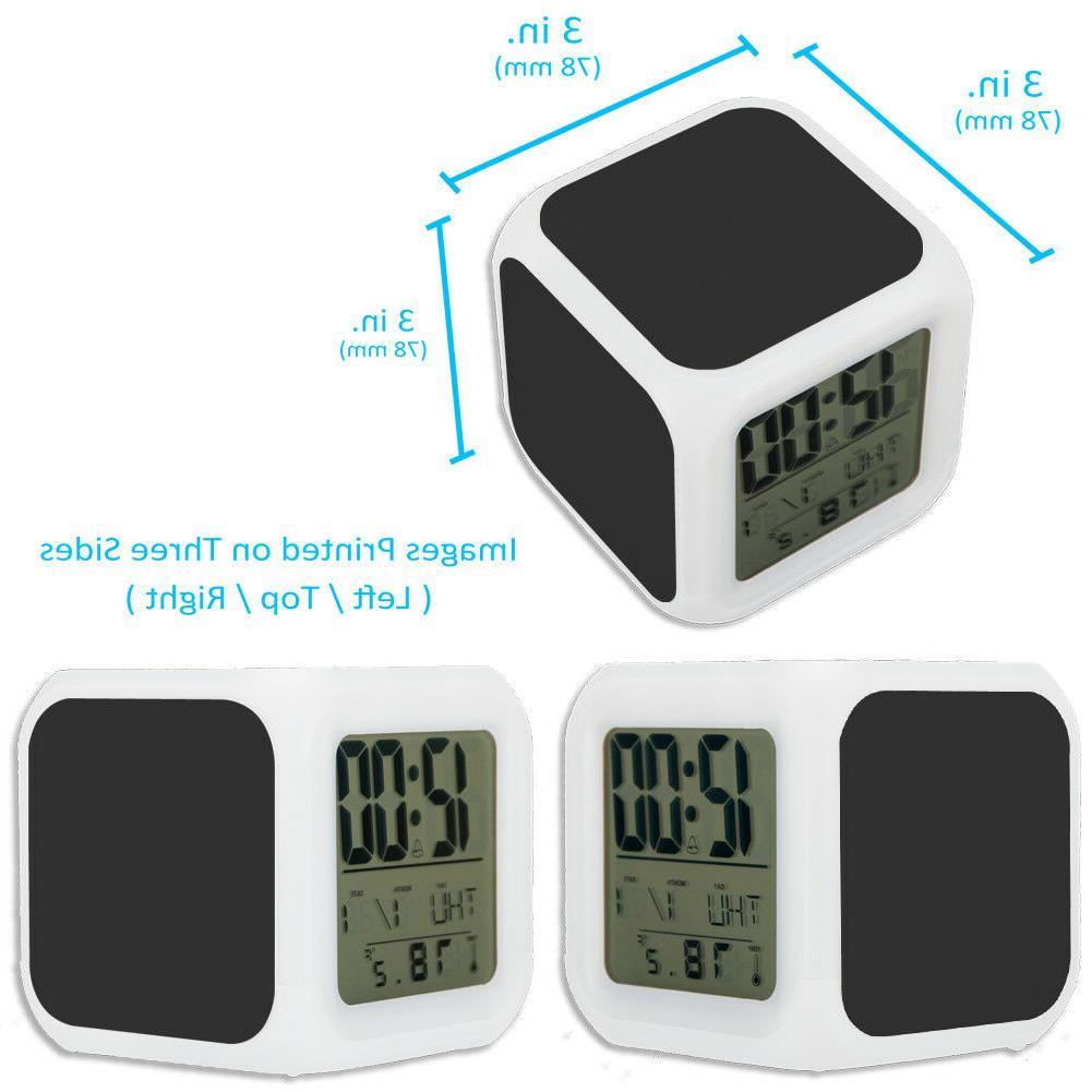Minnesota Vikings Alarm Digital Clock Night Glowing