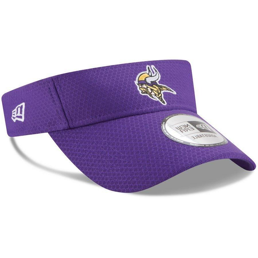 minnesota vikings visor cap adjustable purple 2018