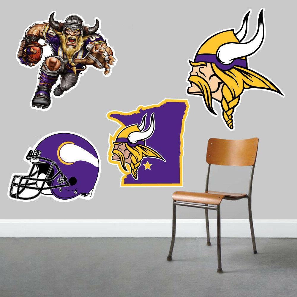 Minnesota Vikings Wall Art 4 Piece Set Large Size------New i