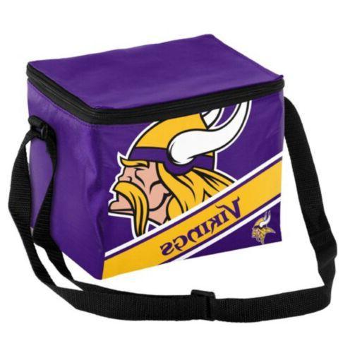 new minnesota vikings 6 pack lunch cooler